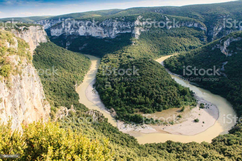 meander in the south of france royalty-free stock photo