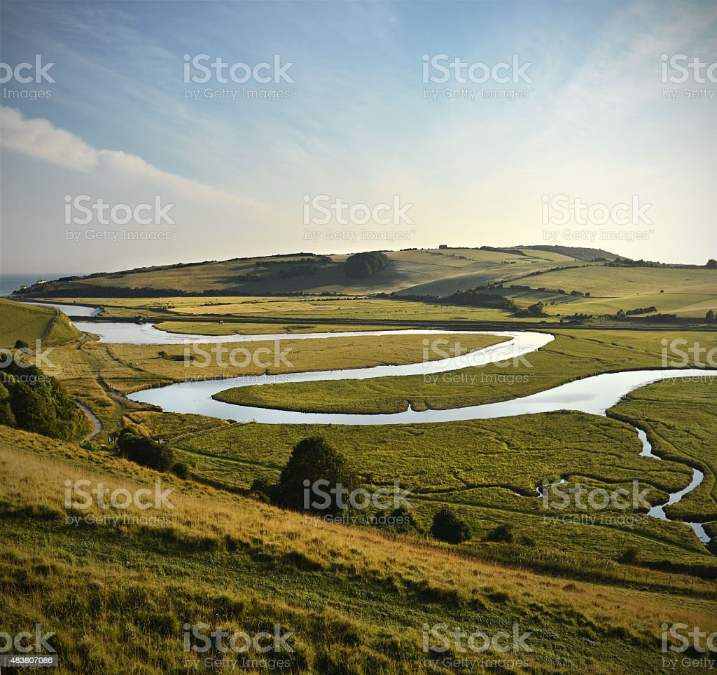 Meandering River stock photo