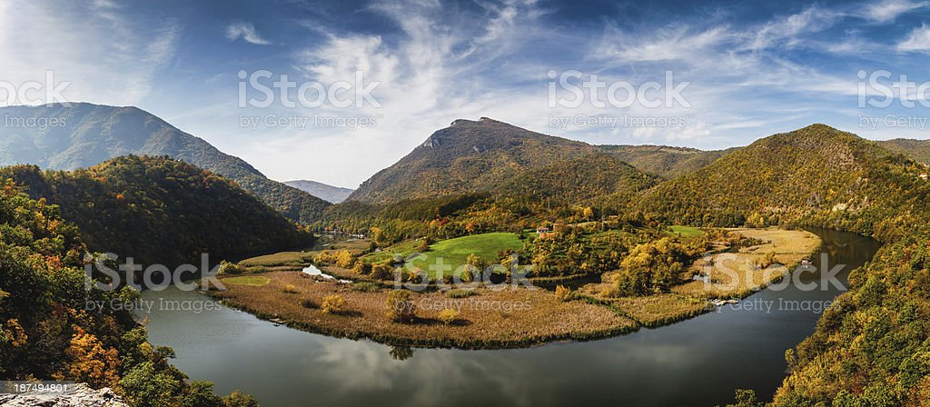 Meanders of Morava royalty-free stock photo