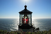 Hemet Head Lighthouse stands above the Pacific Ocean just North of Florence, Oregon.