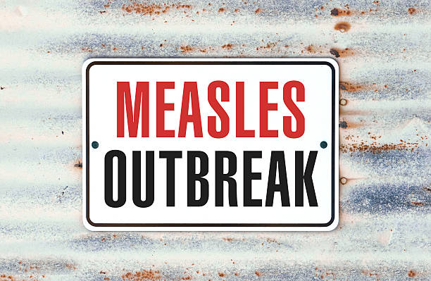 Measles Outbreak A road sign concept that says