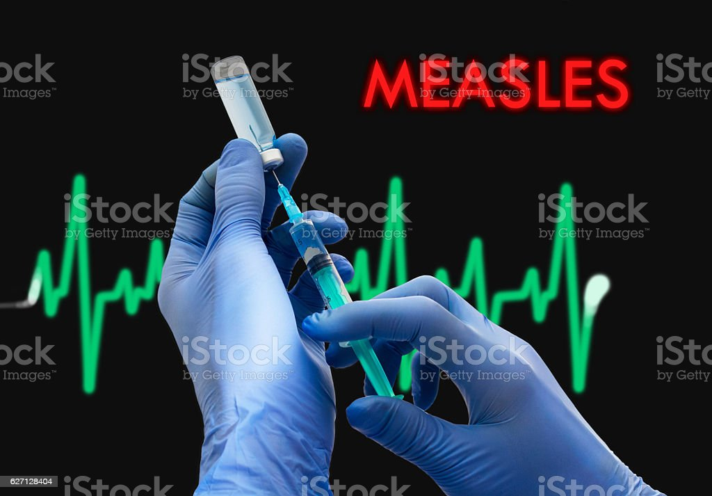 measles stock photo
