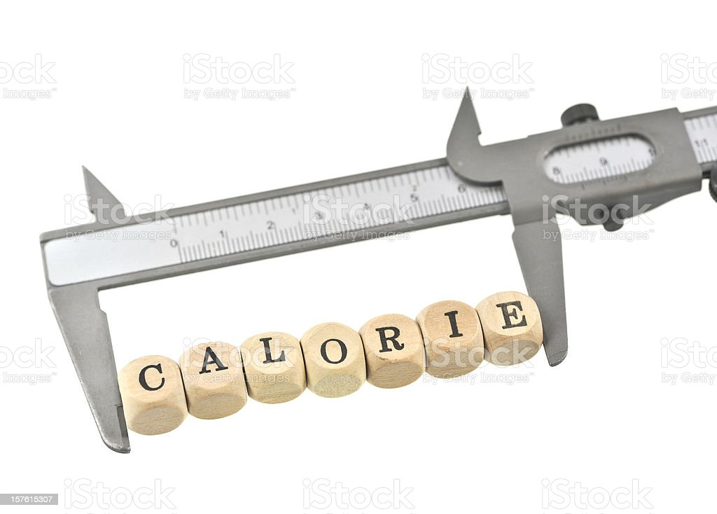 measure calories stock photo