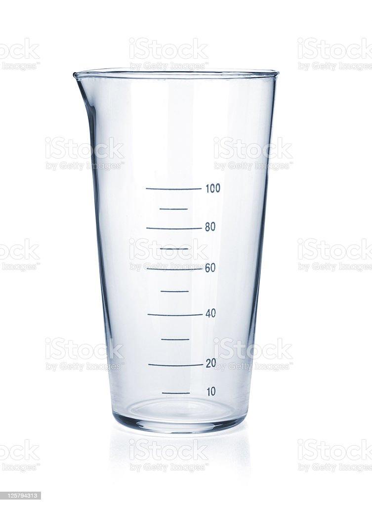 Measure glass stock photo