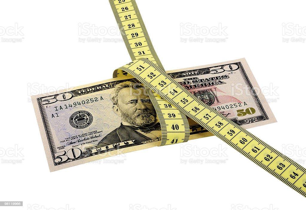 Measure Money royalty-free stock photo