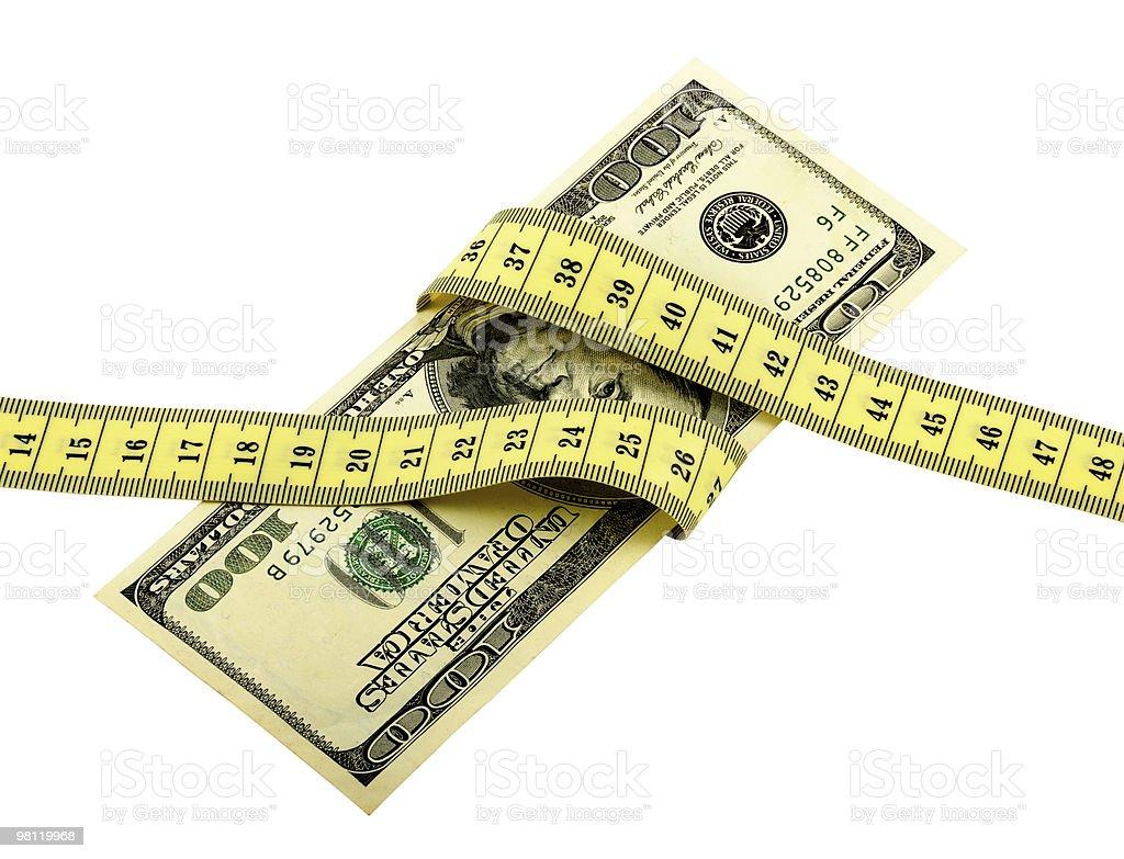Measure Money_2 royalty-free stock photo