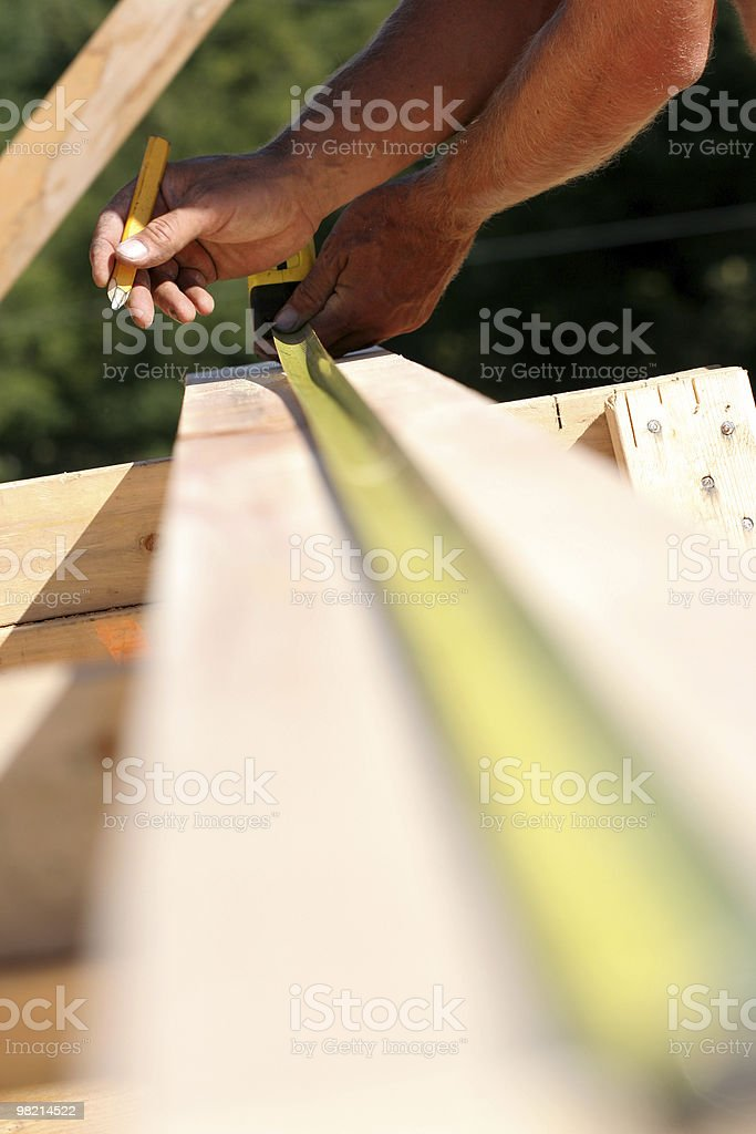 Measure Once royalty-free stock photo