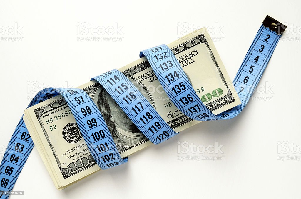 Measure out your money royalty-free stock photo
