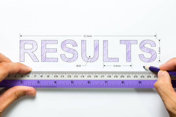Measure results concept stock photo