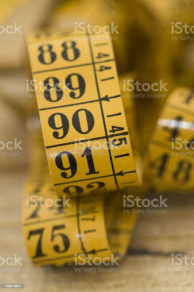 Measure tape stock photo