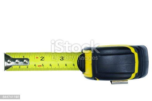 istock Measure Tape rolling auto carry belt clip 544741192