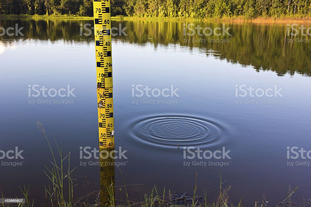 Measure the water level. royalty-free stock photo