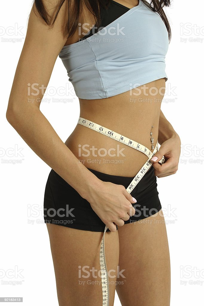Measure waistline royalty-free stock photo