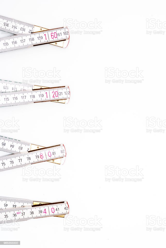 Measure wooden Meter royalty-free stock photo