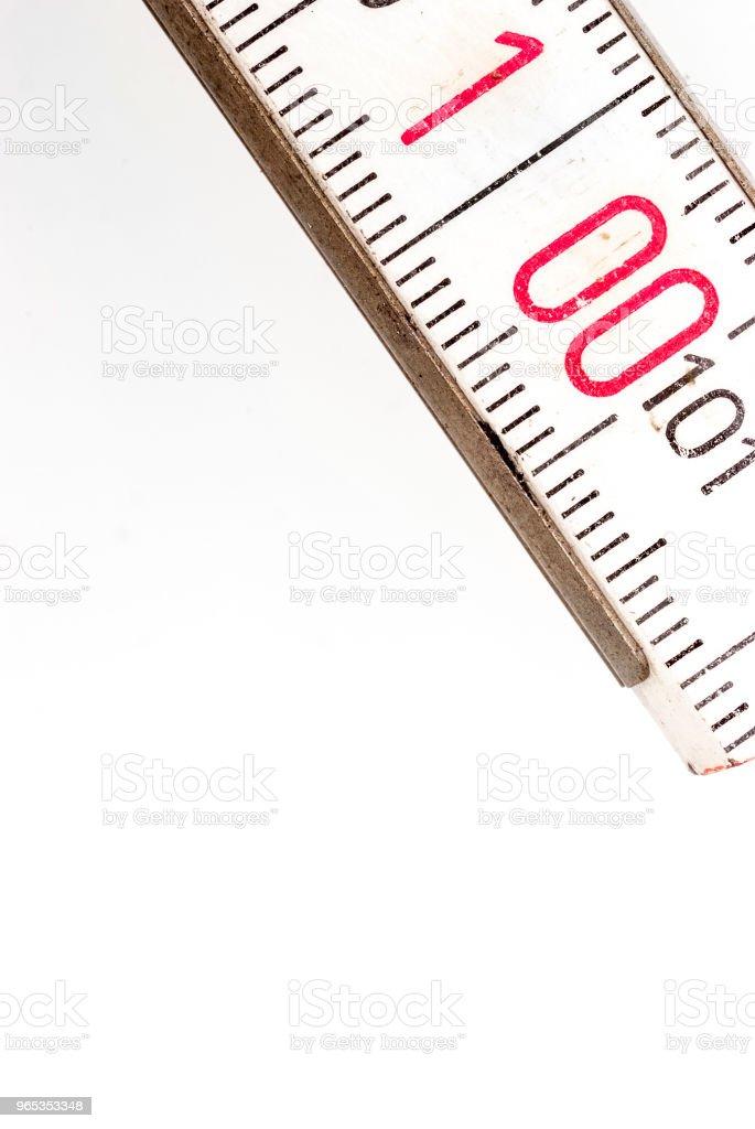 Measure wooden Meter royalty-free stock photo