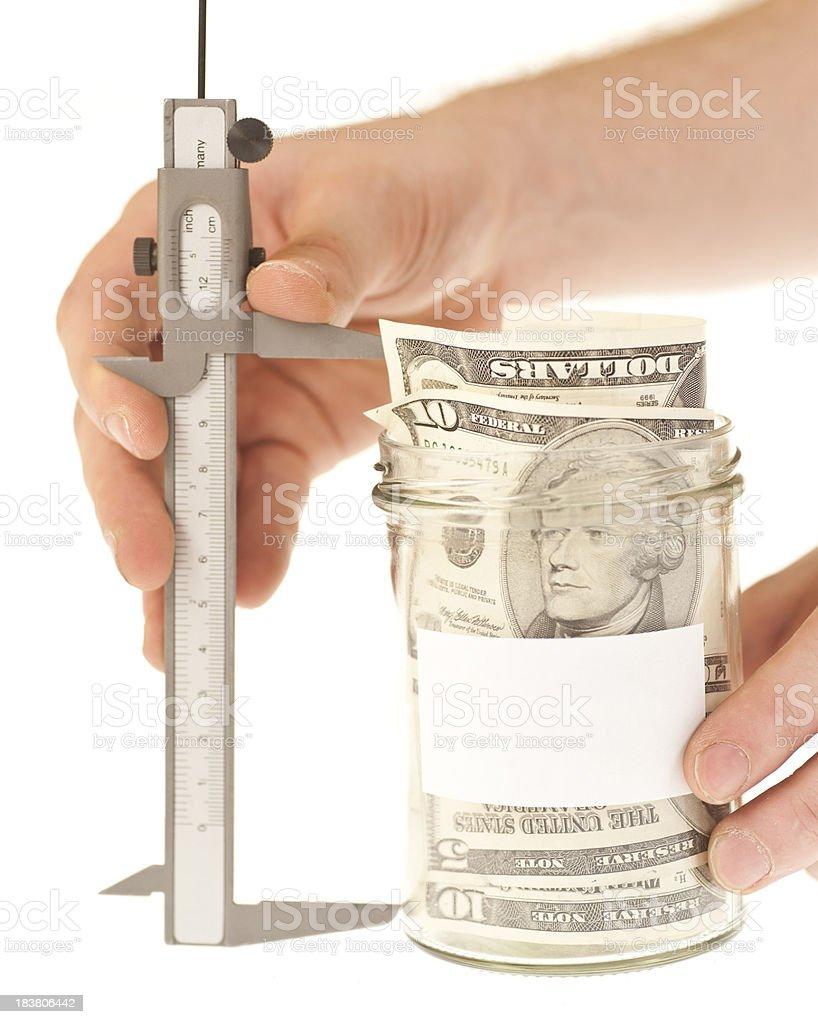 measure your savings royalty-free stock photo