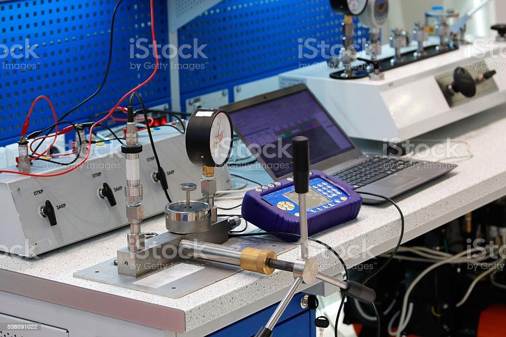 measurement and control laboratory stock photo