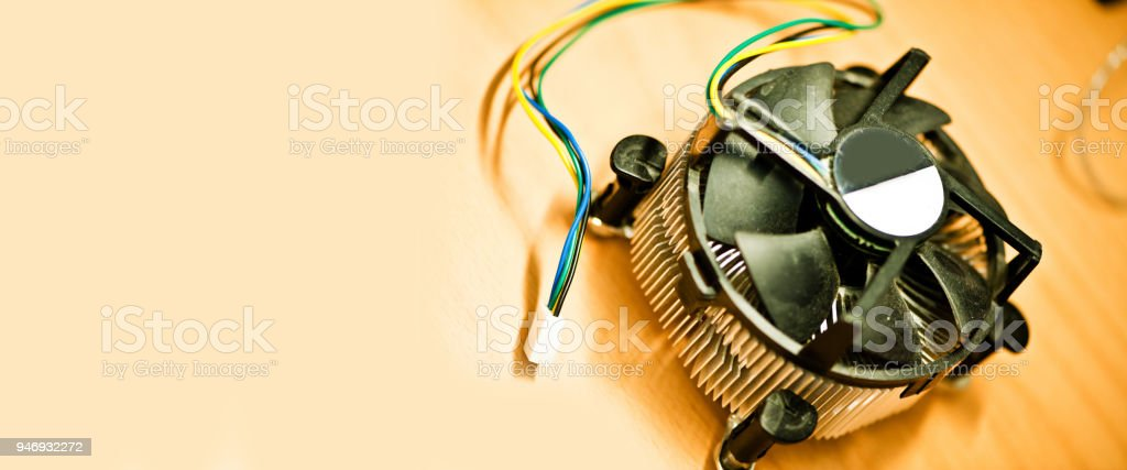 Measurement and Instrumentation Device: Desktop Computer Fan / Heat Sink stock photo