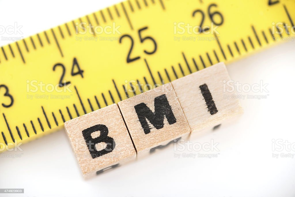 measurement of bmi stock photo