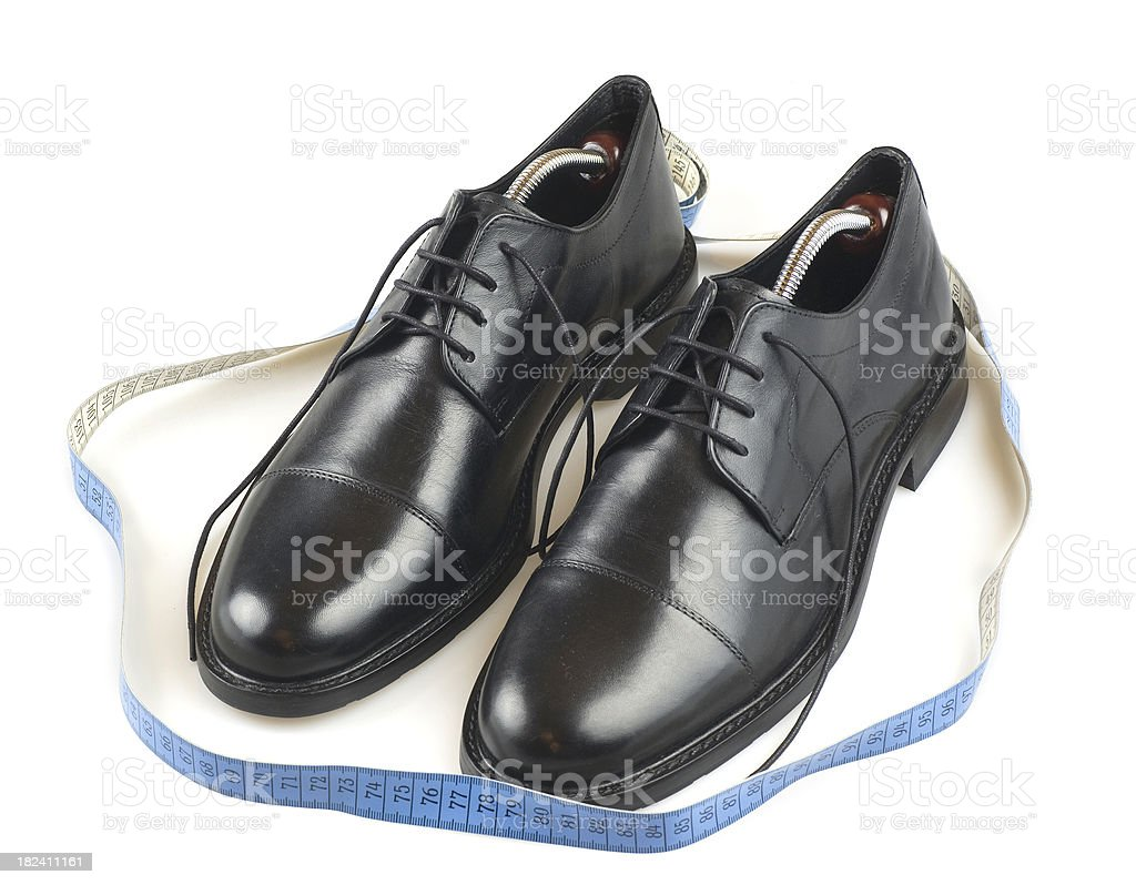 measurement of business shoes size royalty-free stock photo