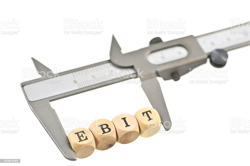 measurement of ebit - measure royalty-free stock photo