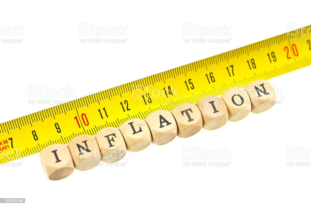 measurement of inflation royalty-free stock photo