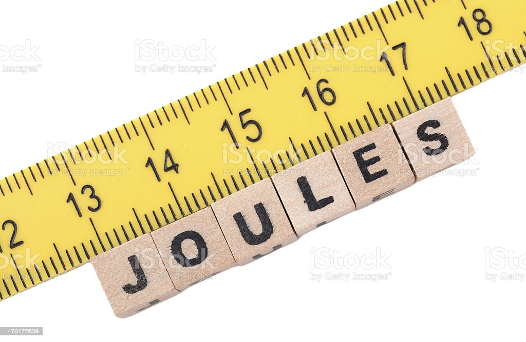 Measurement of joules stock photo
