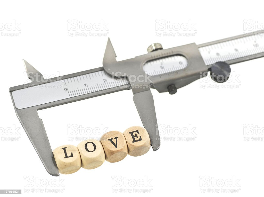measurement of love royalty-free stock photo