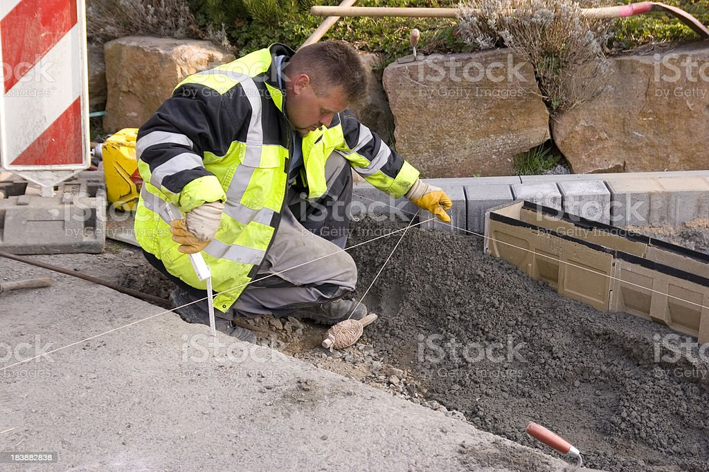 Measurement of Road Construction royalty-free stock photo