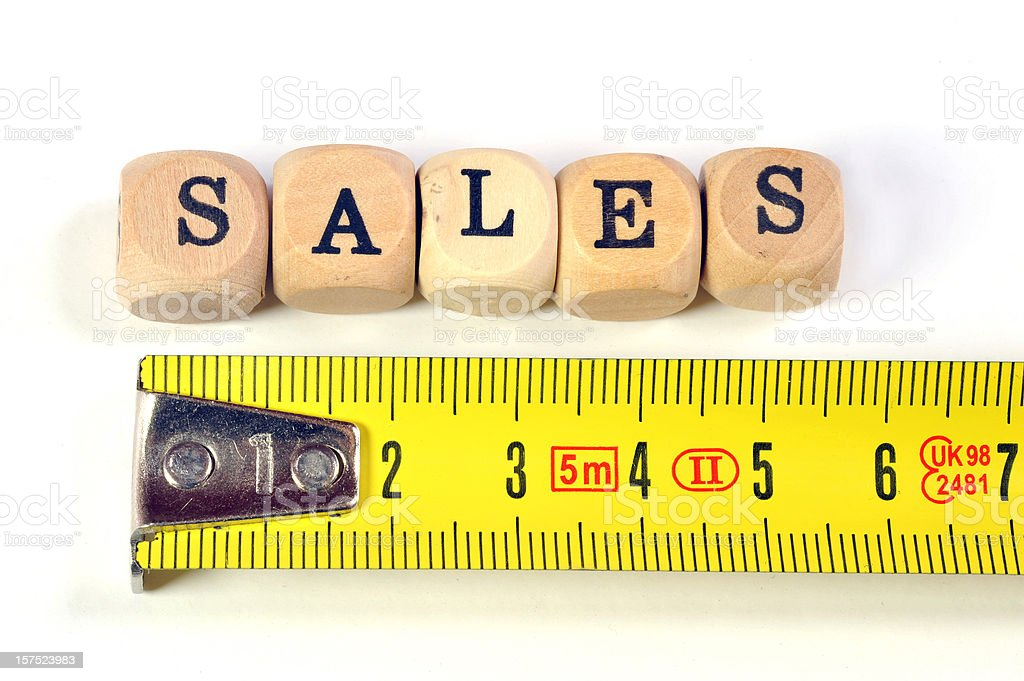 measurement of sales royalty-free stock photo