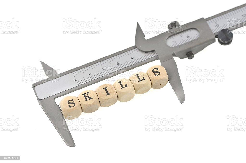 measurement of skills royalty-free stock photo