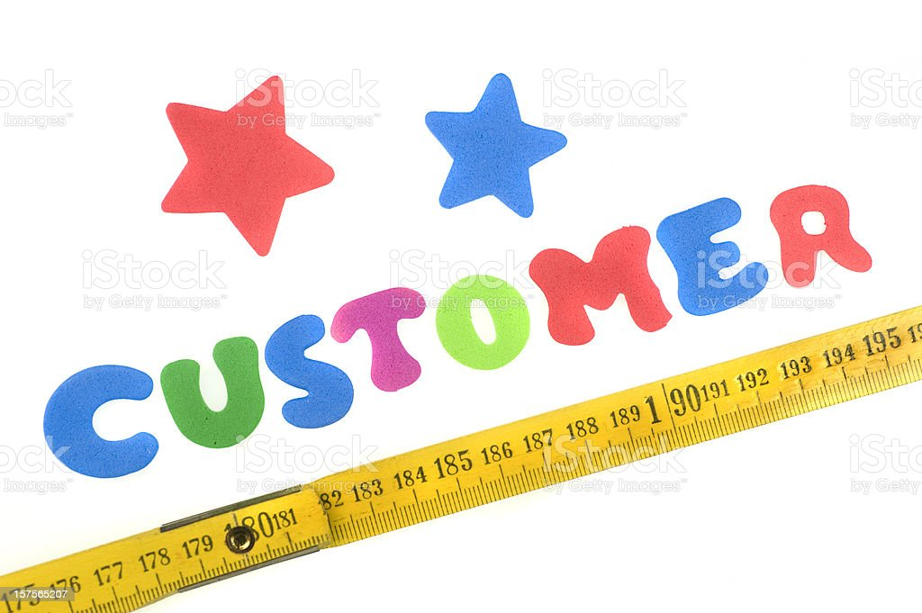 measurement of the customer royalty-free stock photo