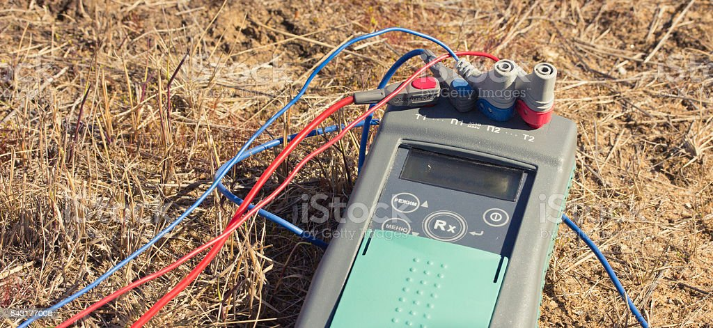 measurement of the earth stock photo