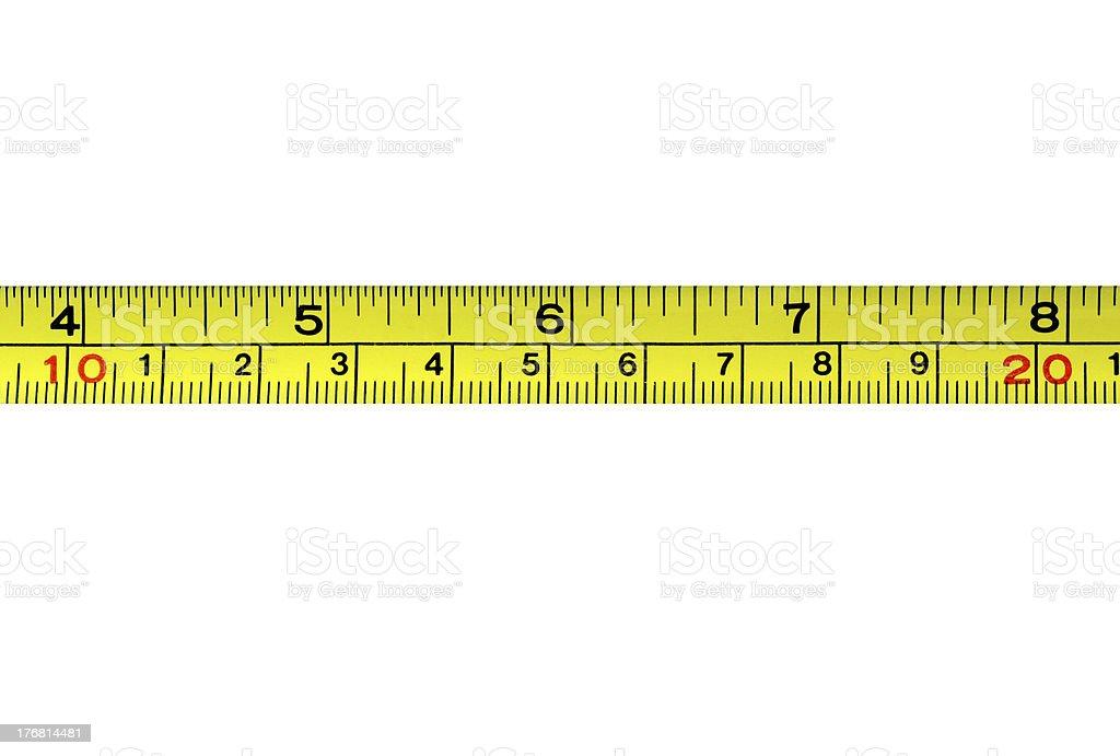 Measurement tape stock photo