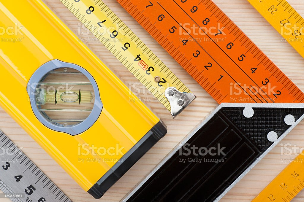 Measurement tools background royalty-free stock photo