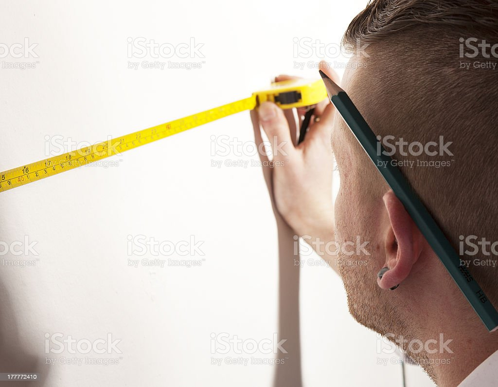 D.I.Y measuring 1 royalty-free stock photo
