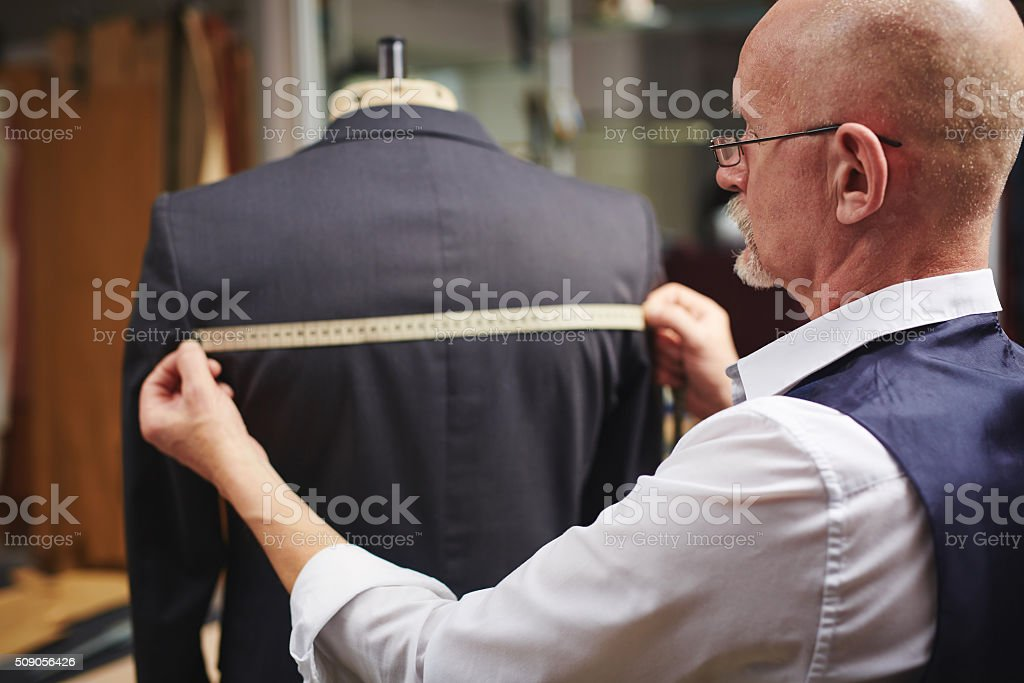 Measuring back stock photo