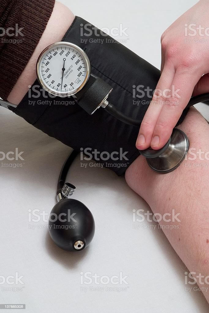 Measuring Blood Pressure royalty-free stock photo