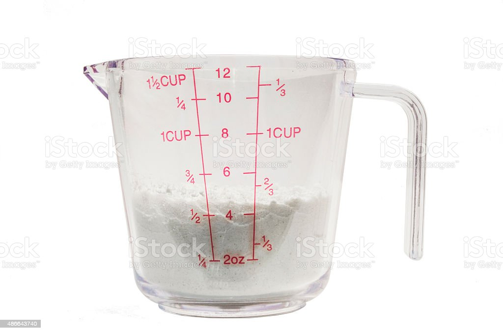 Measuring Cup With Flour 12 Stock Photo Download Image Now Istock