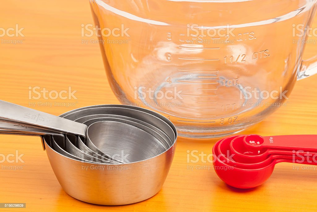 Measuring Cups and Spoons stock photo