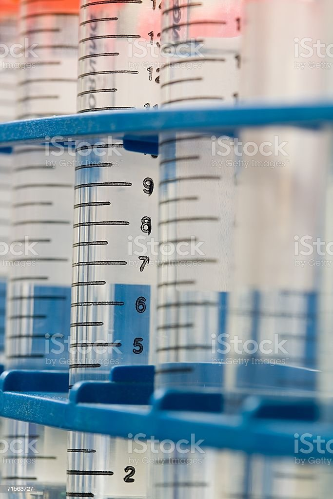 Measuring cylinder royalty-free stock photo