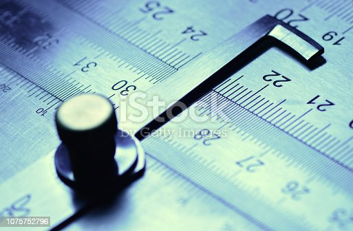 istock Measuring device, photo taken in amateur studio photography 1075752796