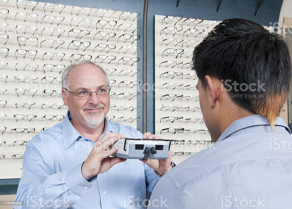 Measuring Eyes for New Glasses royalty-free stock photo
