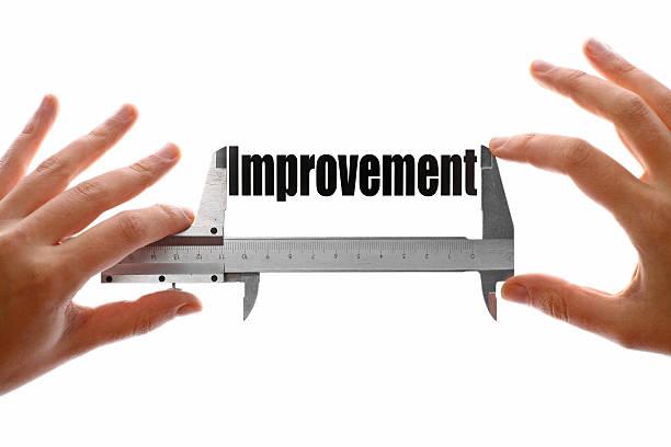 Measuring improvement stock photo