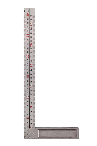 Measuring instrument A square ruler isolated on white background right angle stock pictures, royalty-free photos & images