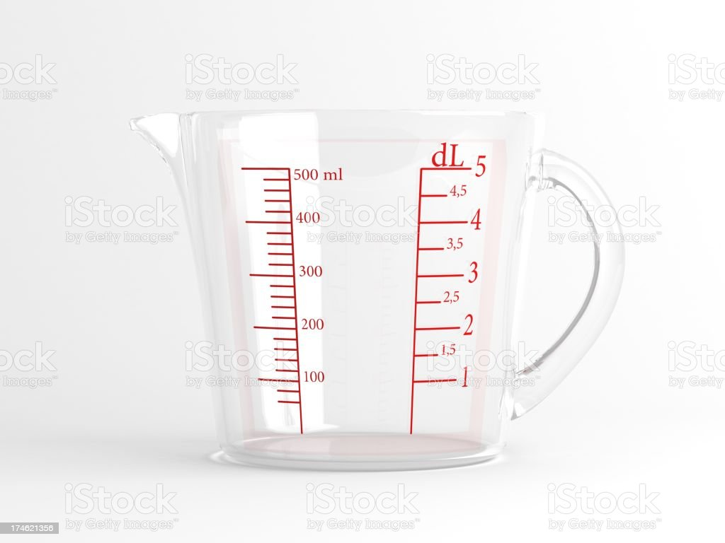 Measuring jug stock photo