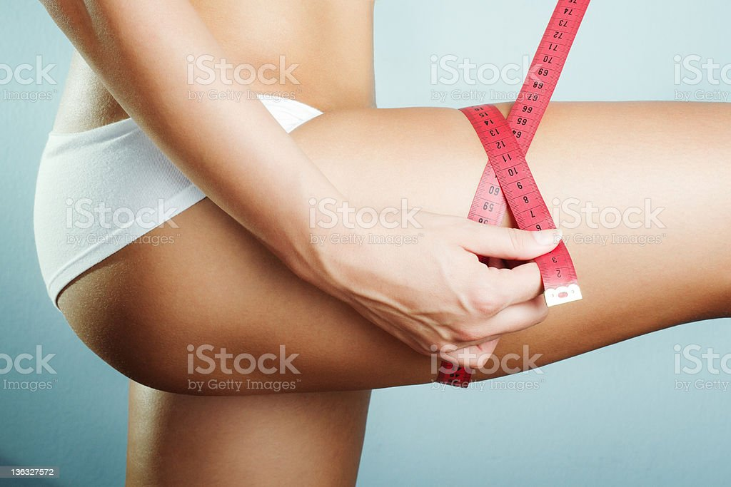 Measuring Leg stock photo