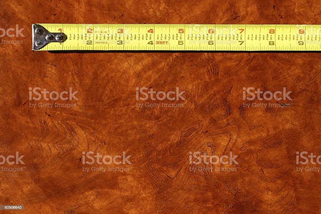 Measuring Nine royalty-free stock photo