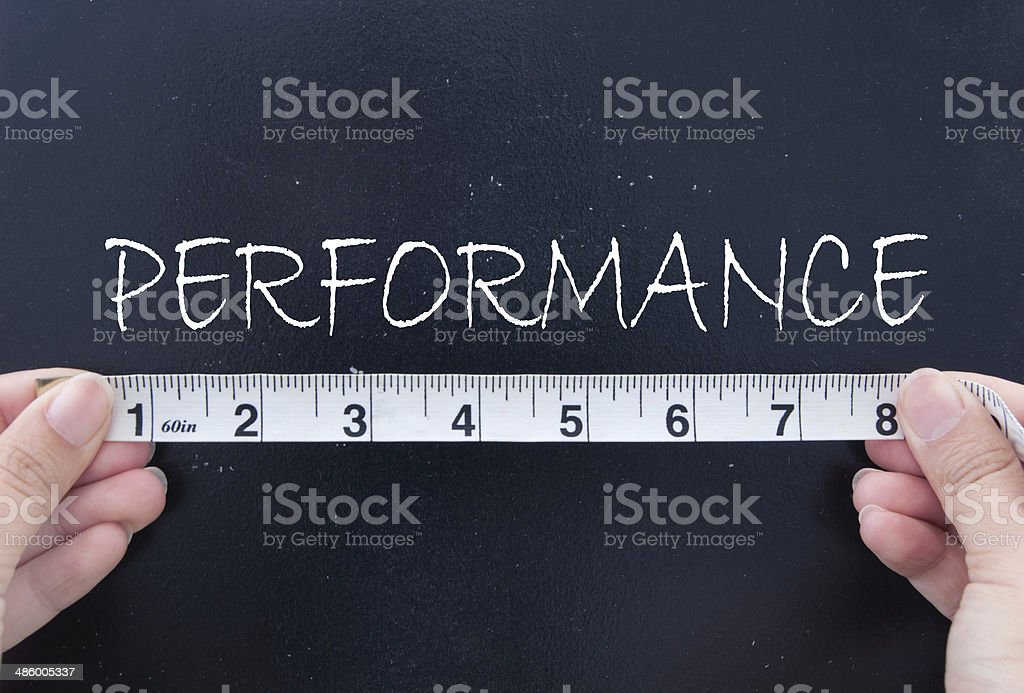 Measuring performance stock photo