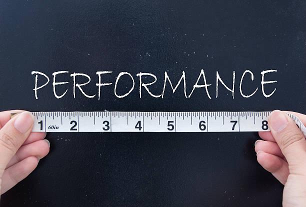 Measuring performance stock photo